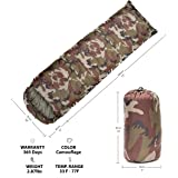 CM&A Camouflage Sleeping Bag - Lightweight and Compact for Camping, Hiking, Backpacking for Adults