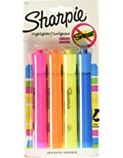 Sharpie ACCENT Highlighter, Tank Highlighter Chisel, 4-Carded, Fluorescent Assorted (25174PP)