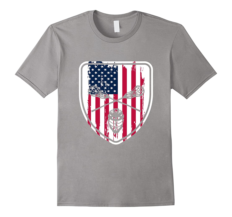 Patriotic Lacrosse T-shirt-Art