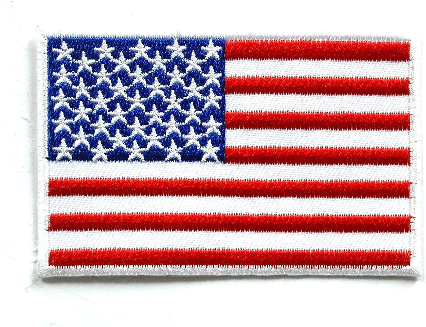 USA Flag United States Flag Embroidery Applique Iron On Patch---013
