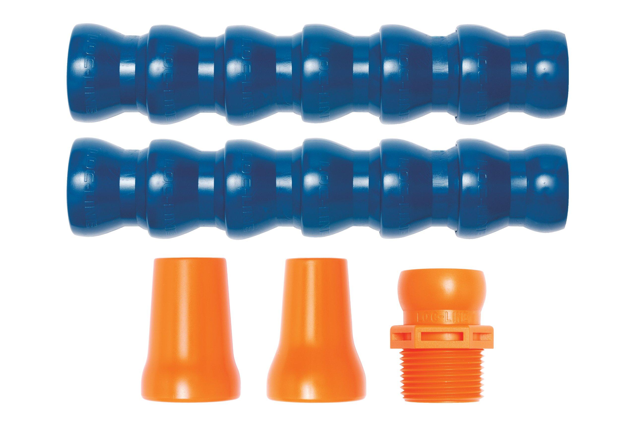Loc-Line Coolant Hose Starter Kit, Acetal Copolymer, 5 Piece, 3/4'' Hose ID