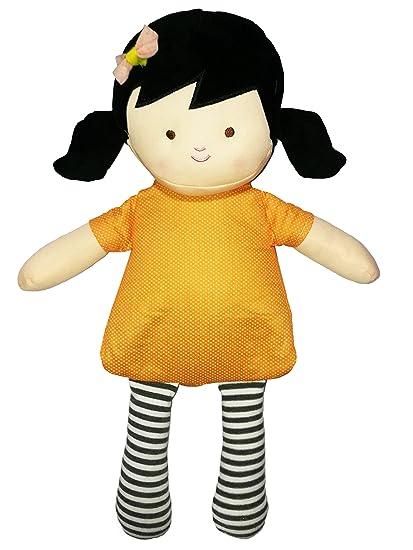 NEO+ Muñeca de Peluche con Vestido, para microondas Color Morena 200521