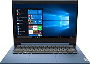"2020 Lenovo IdeaPad 1 14.0"" HD Laptop PC, Intel Pentium Silver N5030 Quad-Core Processor, 4GB Memory, 128GB SSD, HDMI, Webcam, WiFi, Windows 10 S, Ice Blue"