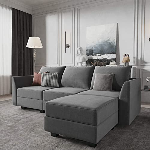HONBAY Convertible Sectional Sofa Couch L Shape Couch