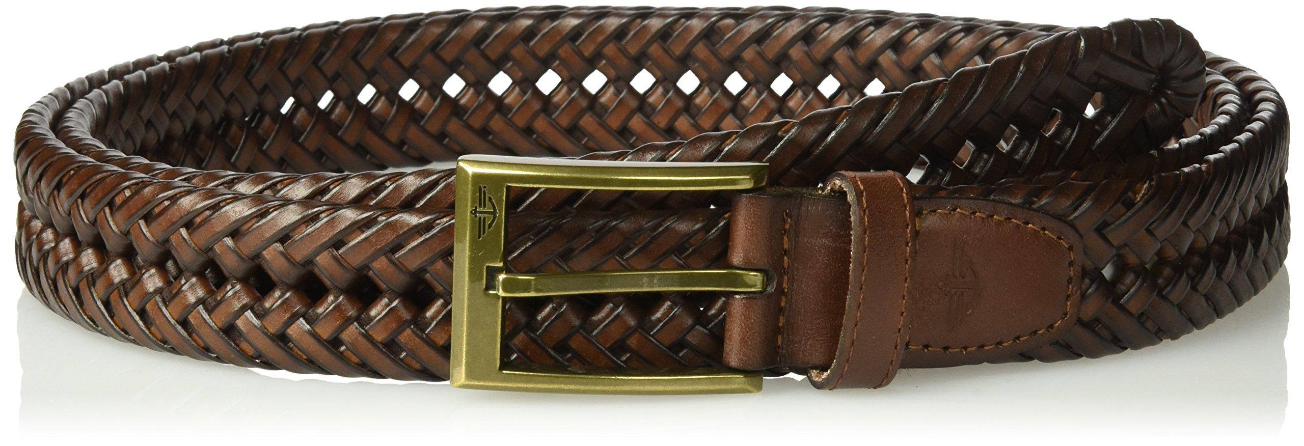 Dockers Men's 1 3/16 in. Glazed Top Braided Belt,Tan,34