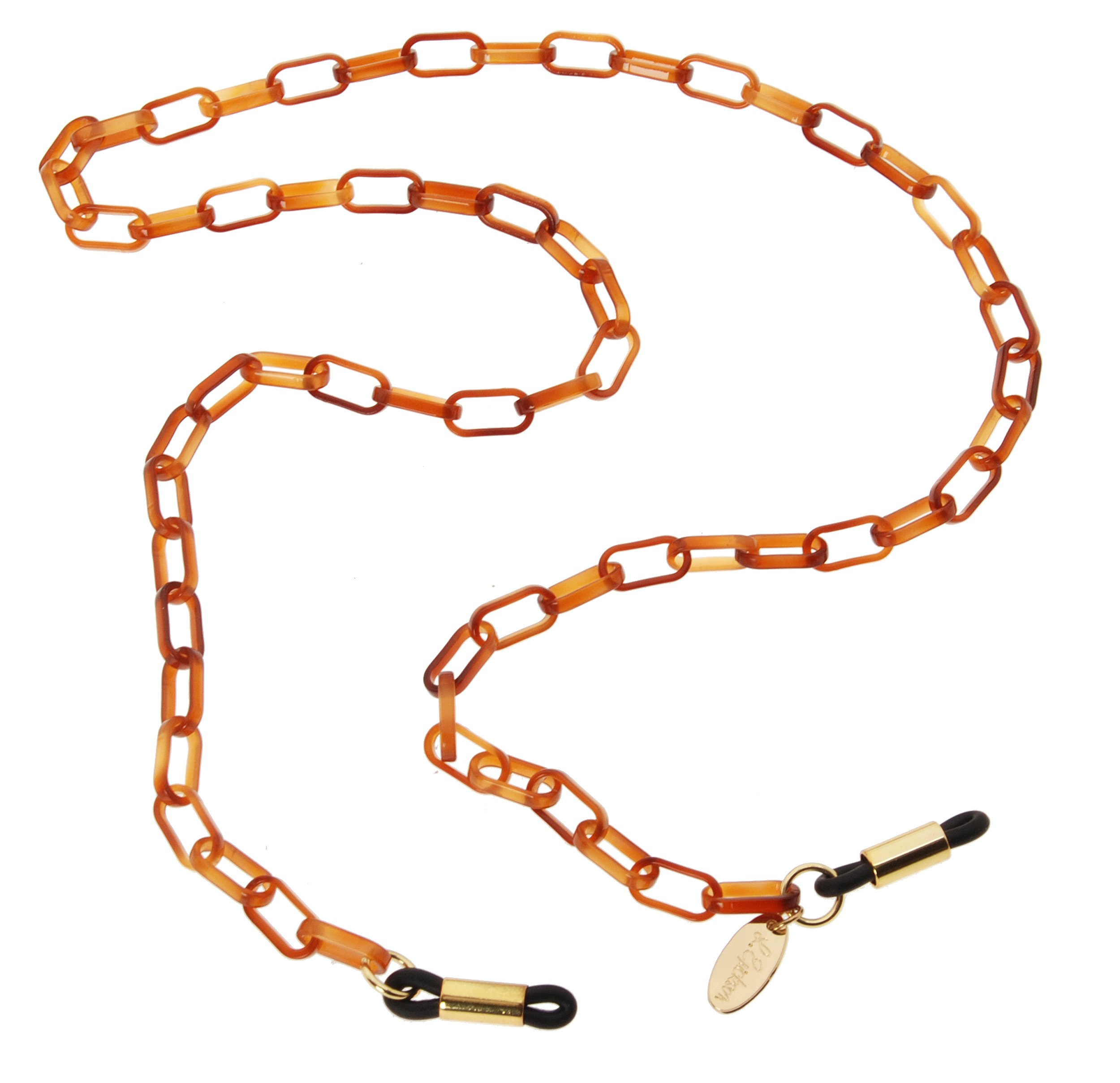 L. Erickson Demi Mini Oval Link Eyeglass Chain - Tortoise by L. Erickson