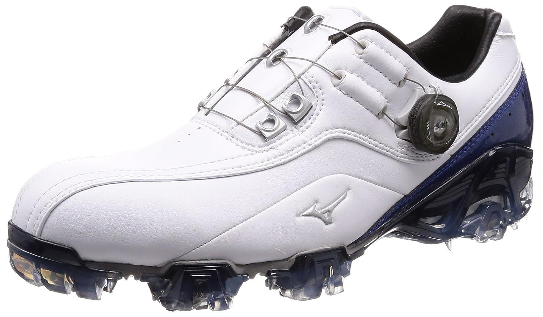[ミズノゴルフ] ゴルフシューズ ジェネム008 ボア メンズ B076FPM422 27.5 cm 2E ホワイト/ブルー