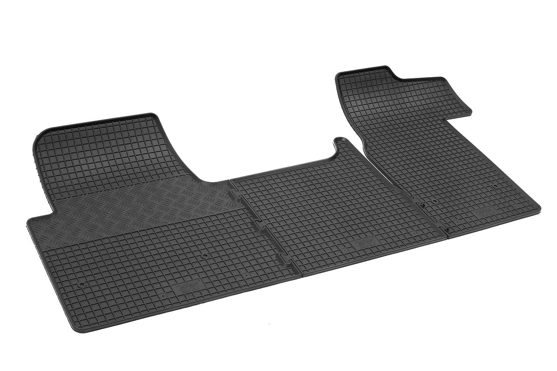 Tapis de voiture en caoutchouc pour toutes saisons Tapis de sol de qualité supérieure Tapis auto sur mesure, noir, 4D-RIG-0383 Rigum