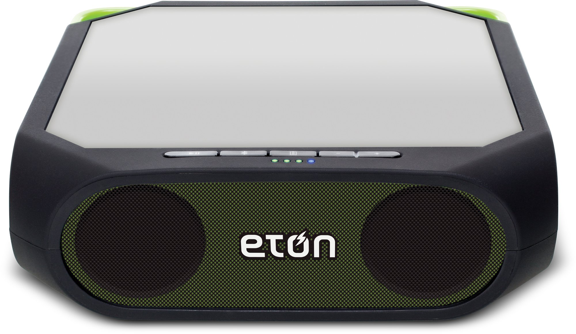 Eton Rugged Rukus Solar-powered, Bluetooth, smartphone-charging speaker, Green, NRKS200GR by Eton