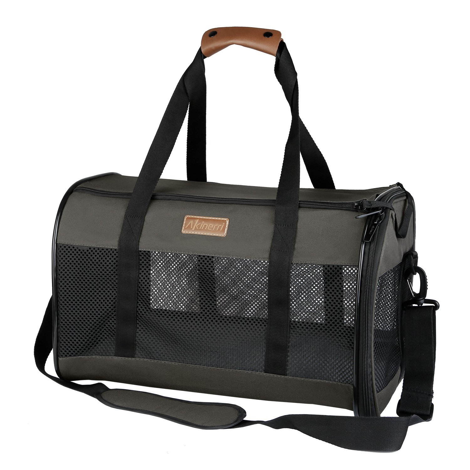 Akinerri Airline Approved Pet Carriers,Collapsible Soft Sided Pet Travel Carrier for Dogs and Cats (Large) by Akinerri