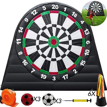 Amazon.com: popsport 10 x 10ft inflable fútbol dardos ...