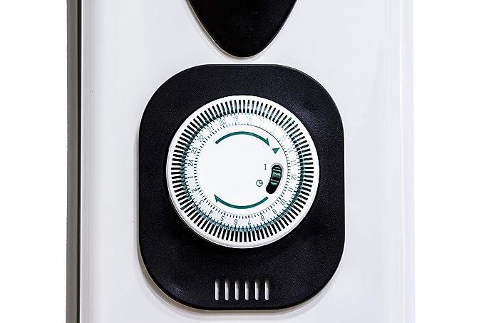 Lauson Radiador Eléctrico de Aceite Temporizador Programable, 3 Niveles de Potencia, Protección contra Sobrecalentamiento y Recogecables, Ahorro ...