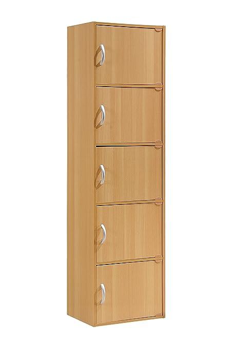 Amazon Hodedah 5 Door Five Shleves Enclosed Storage Cabinet