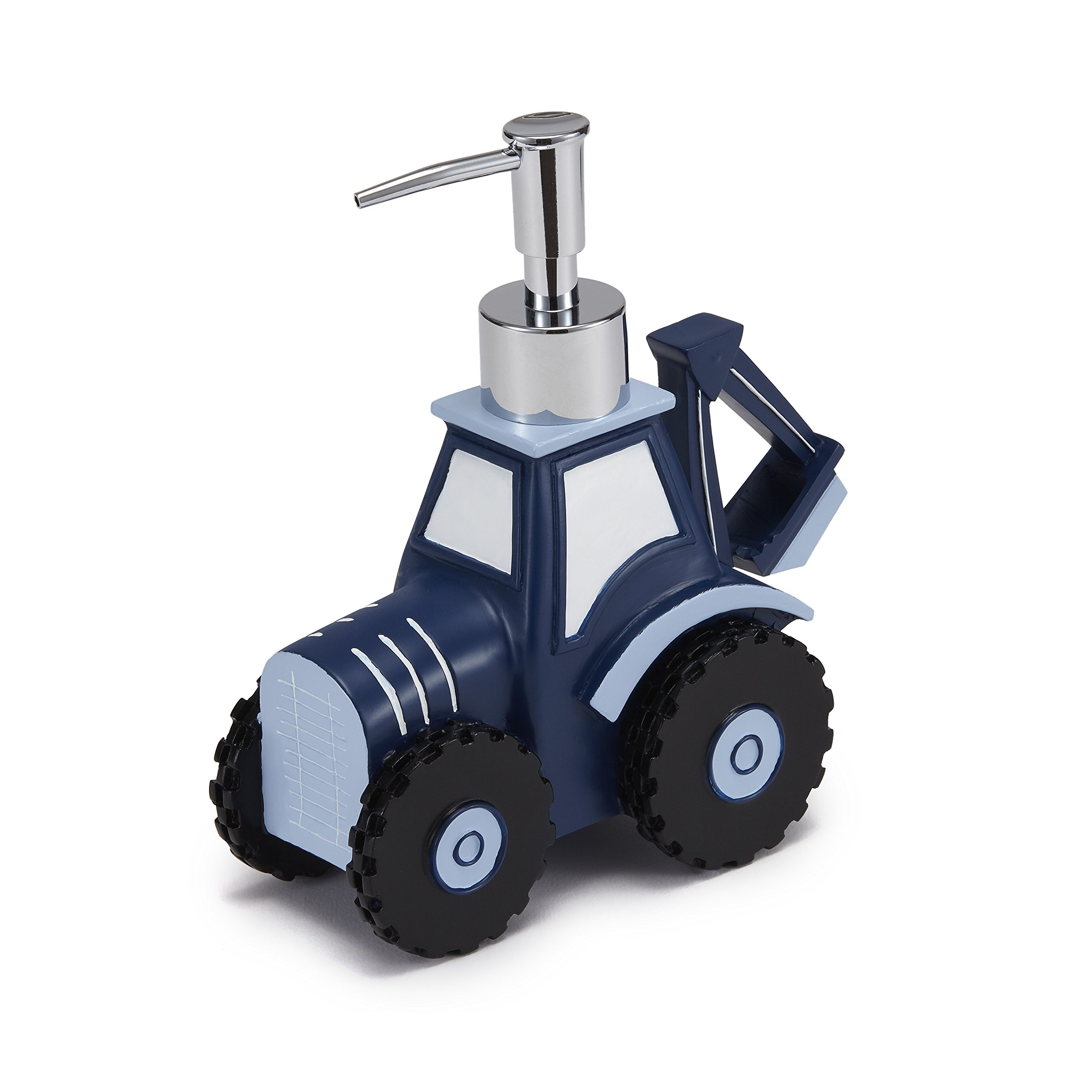 Kassatex Construction Bath Accessories Lotion Dispenser, One Size, Blue, White