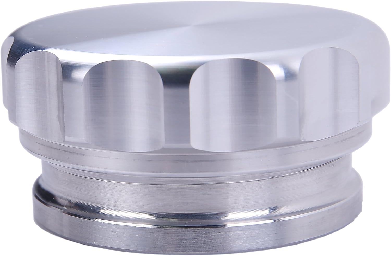 X AUTOHAUX 1.5 ID Aluminium Alloy Automobile Weld on Filler Neck Cap Oil Fuel Tank Silver Tone
