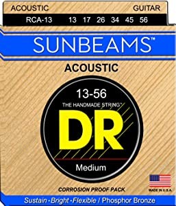 DR Strings Sunbeam - Phosphor Bronze AcousticRound Core 13-56