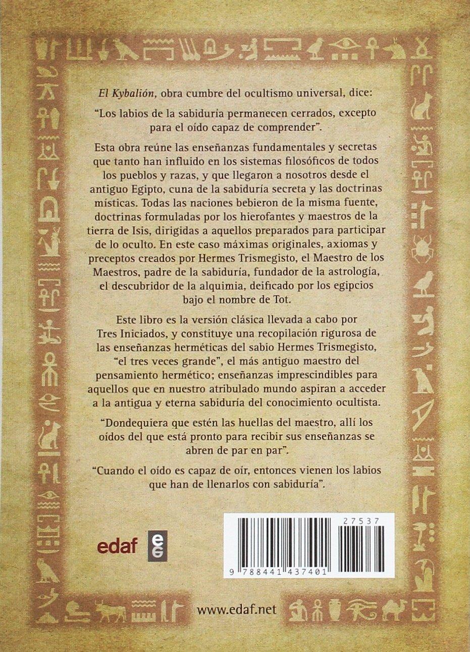 EL KYBALIÓN DE HERMES TRIMEGISTO (Tabla de Esmeralda): Amazon.es: Tres  iniciados, Federico Climent Terrer: Libros en idiomas extranjeros