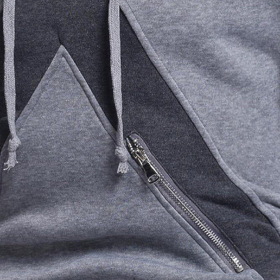 Ruhua Mens Printed Hoodies Autumn Fitted Long Sleeve Causal Sweatshirt