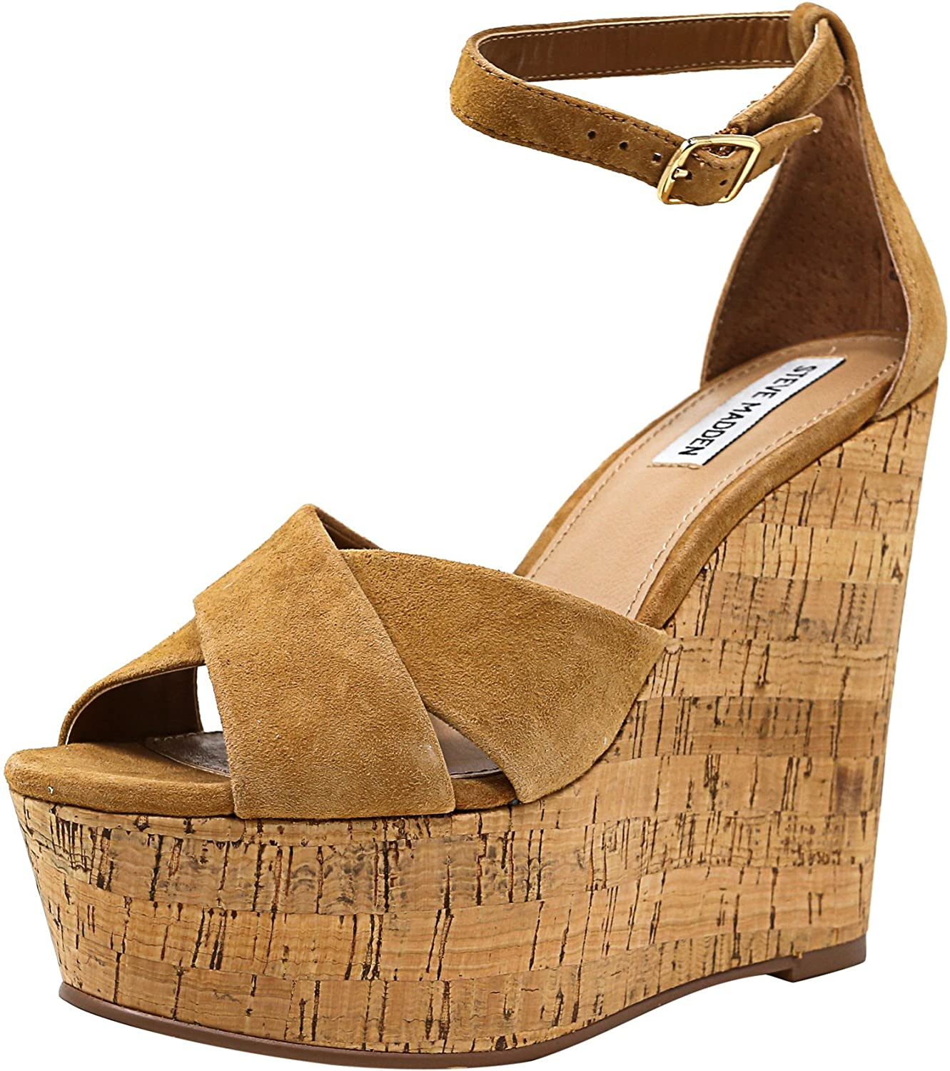 84d8a5bf52f Amazon.com   Steve Madden Women's Striking Suede Wedged Sandal ...