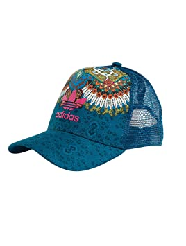adidas M B Gorra de Tenis, Mujer, Azul (aguama/multco), OSFM