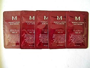Amazon.com : Missha M Perfect Cover Bb Cream Spf42 ( #31 ) X ( 5 ...
