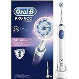 Oral-B PRO 600 Sensi Ultrathin Spazzolino Elettrico Ricaricabile con 1 Testina di Ricambio