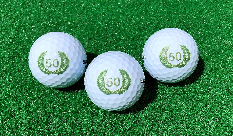50歳の誕生日ゴルフボールギフトボックス/ゴルフ誕生日プレゼントにハッピーバースデーの動機を設定 B07FZ96KSC