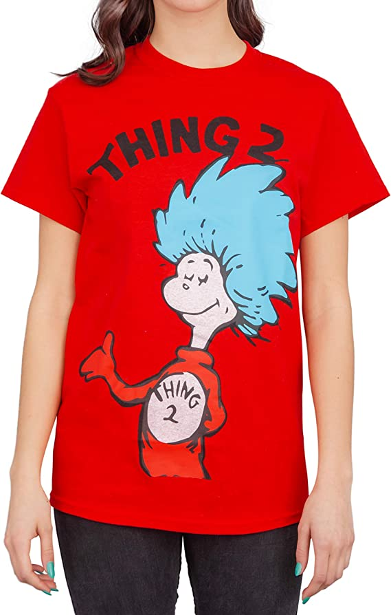 Mens Kids Womens Thing 1 Thing 2 Costume Cat In The Hat T-Shirt Book Week Tshirt