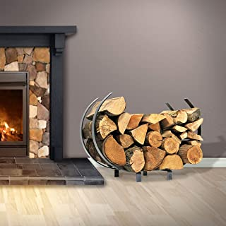 product image for Enclume Handcrafted Indoor/Outdoor Large U Shaped Fireplace Log Rack Hammered Steel