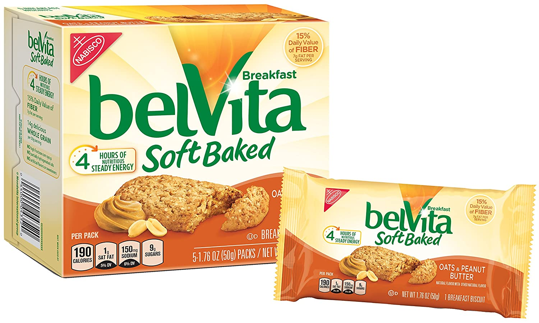 Belvita Soft Baked Desayuno Galletas, Avena, & Mantequilla ...