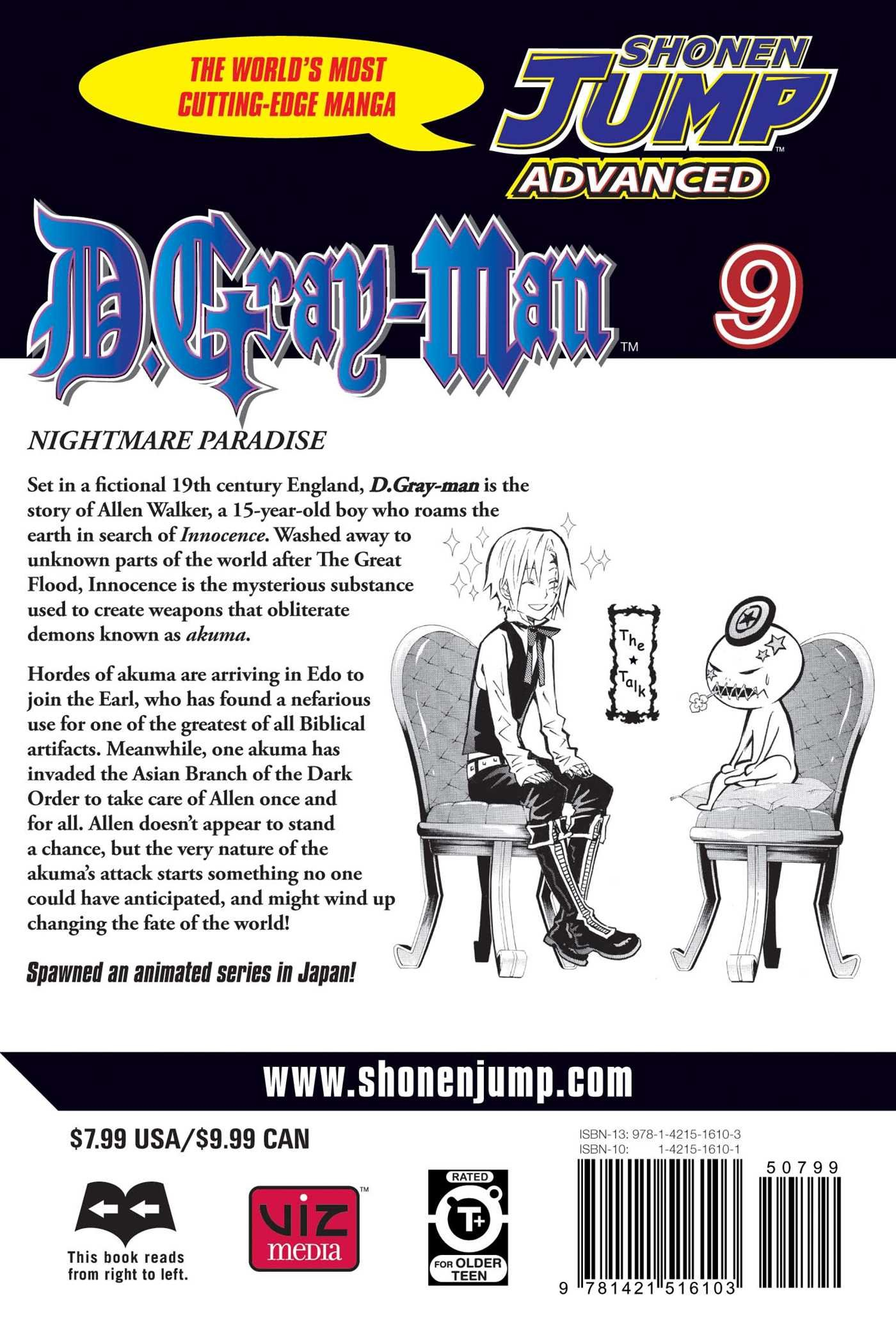 D.Gray-Man, Vol. 9: Katsura Hoshino: 9781421516103: Amazon.com: Books
