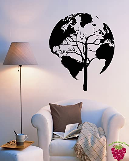 unusual wall stickers dog wall wall vinyl stickers world map earth tree unusual decor for living room z2076m amazoncom