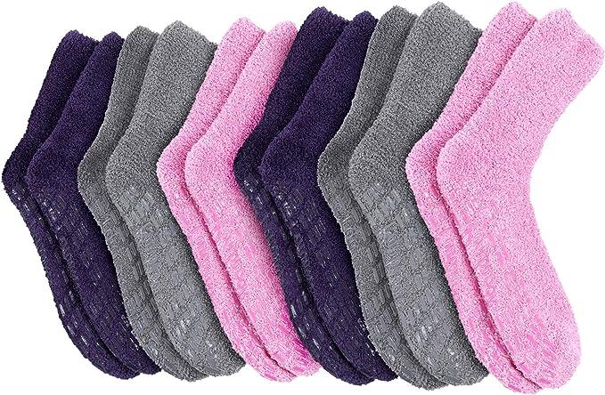 Pembrook Non Skid/Slip Socks – Hospital Socks - Fuzzy Slipper Gripper Socks