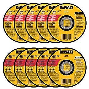 "DEWALT DW8062 4-1/2"" x .045 x 7/8"" Metal Cut-Off Wheel (100pk)"