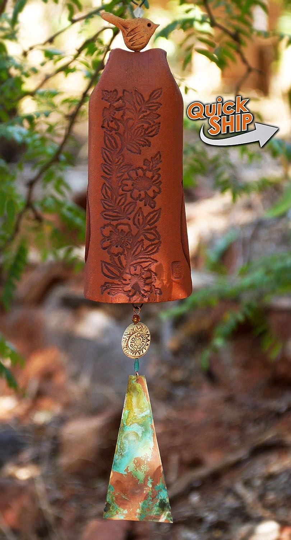 Most Popular Red Bell Unique Love Bird Handmade Vday Flower Bell Ceramic Wind Chime Nature Lover Gift Gardener Gift Best Selling Items