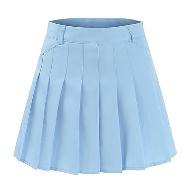 6dd82a6a56 Ourlove Fashion School Pleat Uniform Pleated Skirt Slim Thin Pleated Skater  Tennis Skirts Mini Dress With