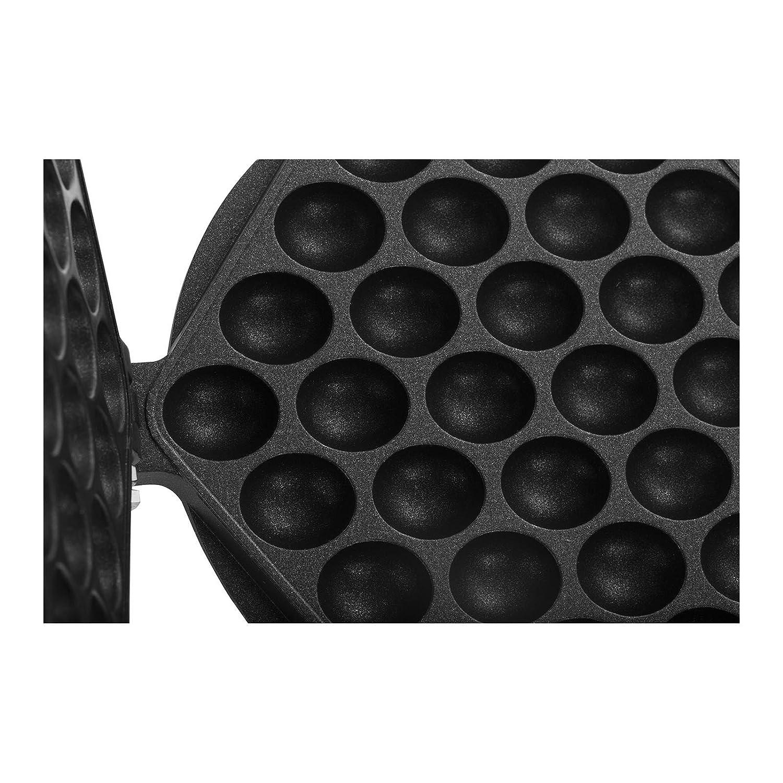 Mat/ériau Aluminium recouvert de t/éflon, Poign/ée en bois, Protection contre les d/ébordements Royal Catering Plaque pour Gaufrier Bubble Waffle Appareil a Gaufres Waffle Machine a Gaufre RCWM-BWMP