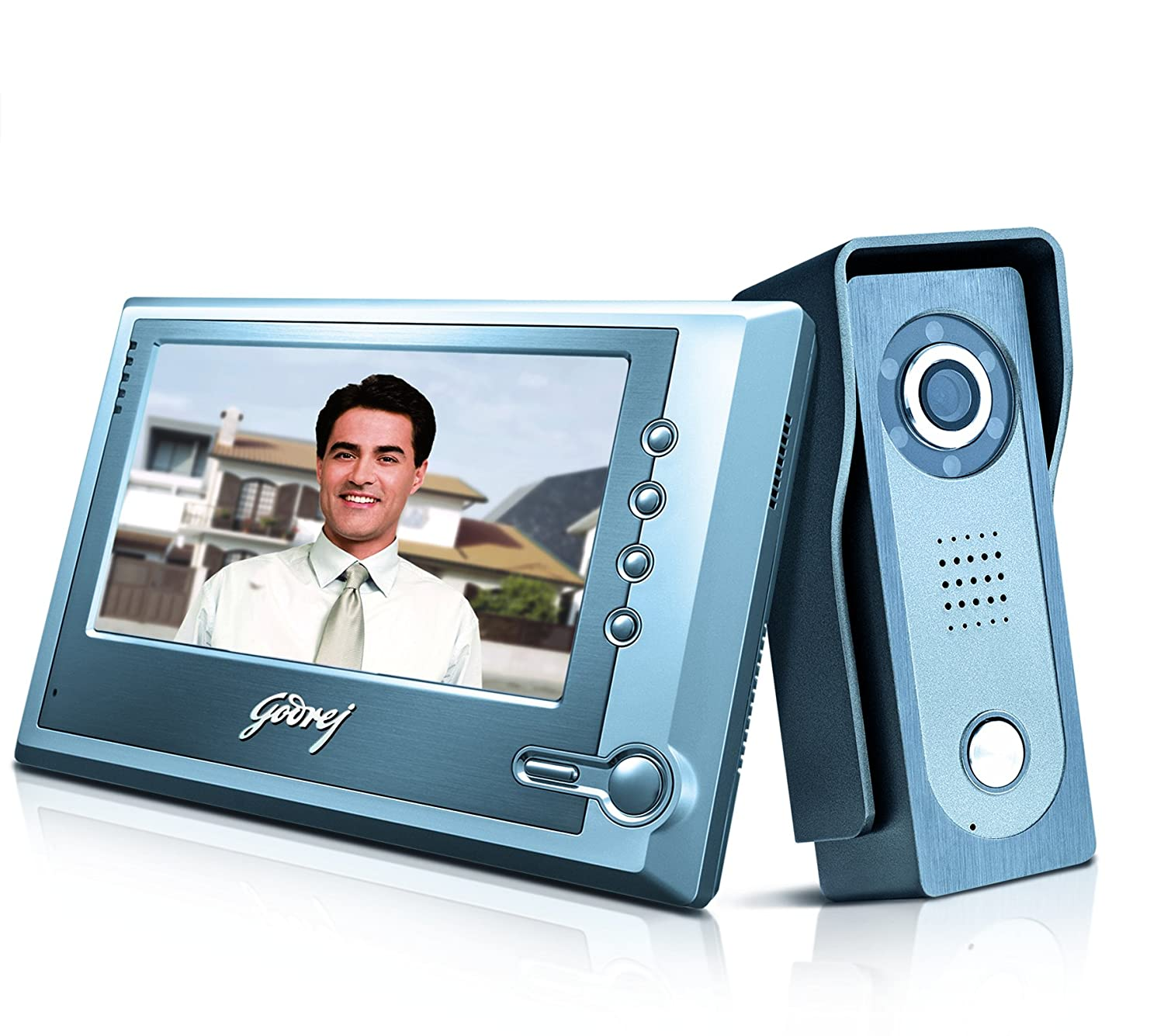 Godrej 7 Inch Solus Video Door Phone Kit Home Improvement Doorbell Wiring Diagram Two Chimes