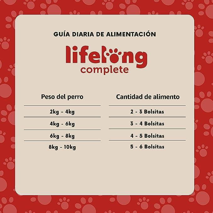 Marca Amazon - Lifelong Alimento completo para perros adultos - Selección de carne en salsa, 2,4 kg (24 bolsitas x 100g)