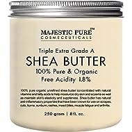 Majestic Pure Shea Butter, Natural Skin Care, Organic Virgin Cold-Pressed Raw Unrefined Premium Grade from Ghana - 8 oz …