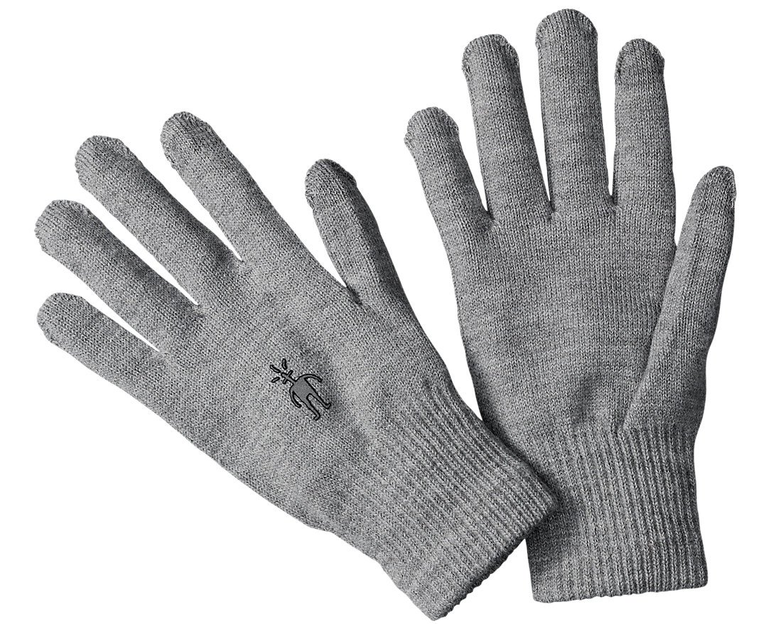 SmartWool Liner Gloves (Silver Gray Heather) Medium