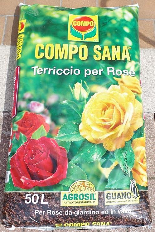 Compo Sana - Tierra de calidad para rosas, 50 l: Amazon.es: Jardín