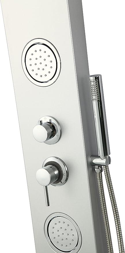 DP Grifería - Columna de ducha, hidromasaje (aluminio), color ...