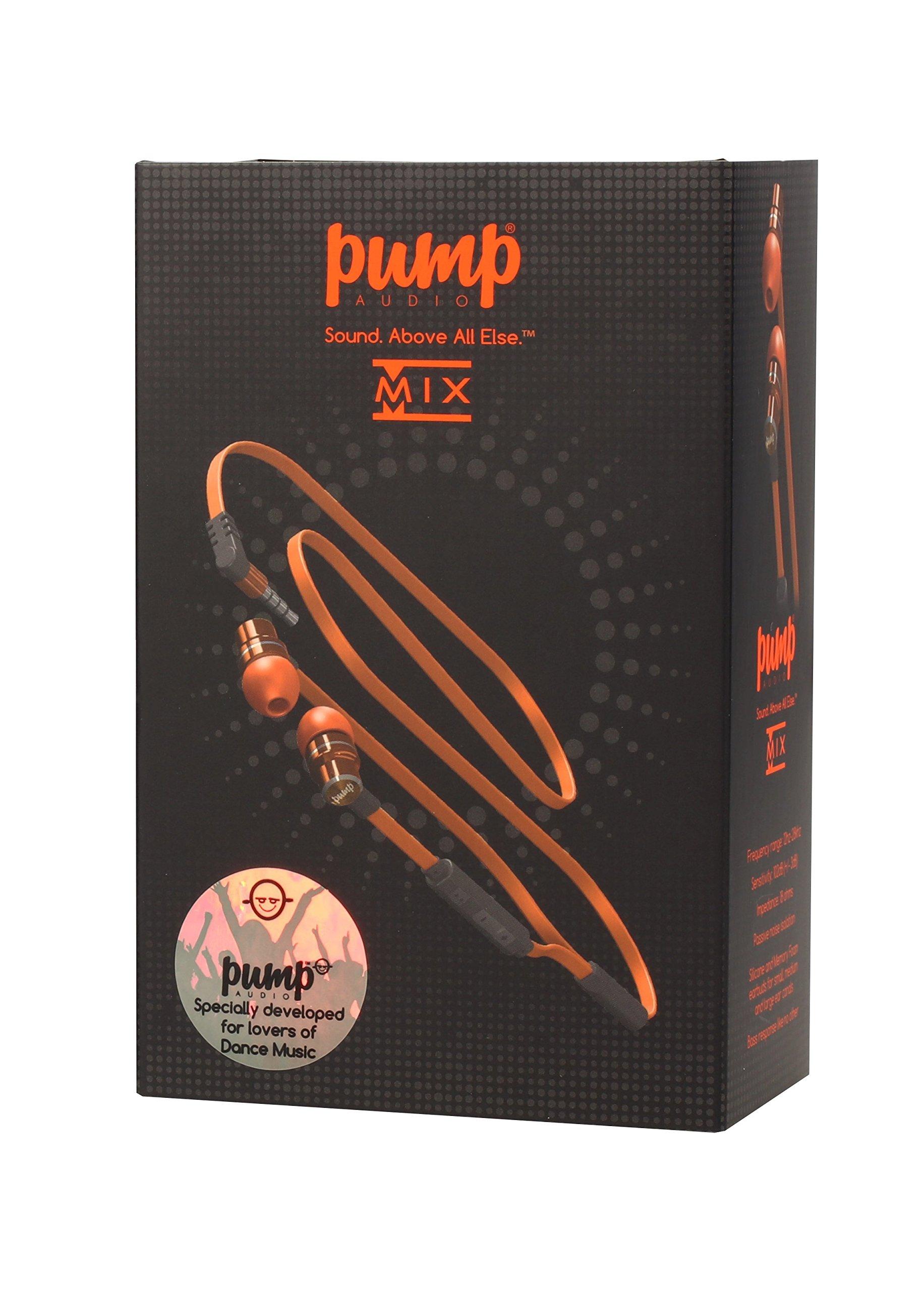 PUMP Audio MIX In Ear Earphones (Orange)
