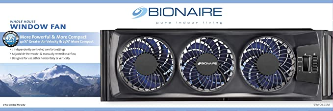 Bionaire Compact Window Fan with Manual Controls
