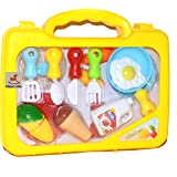 Vibgyor Vibes™ Colourful Realistic Pretend Play Kitchen Set in a Suitcase