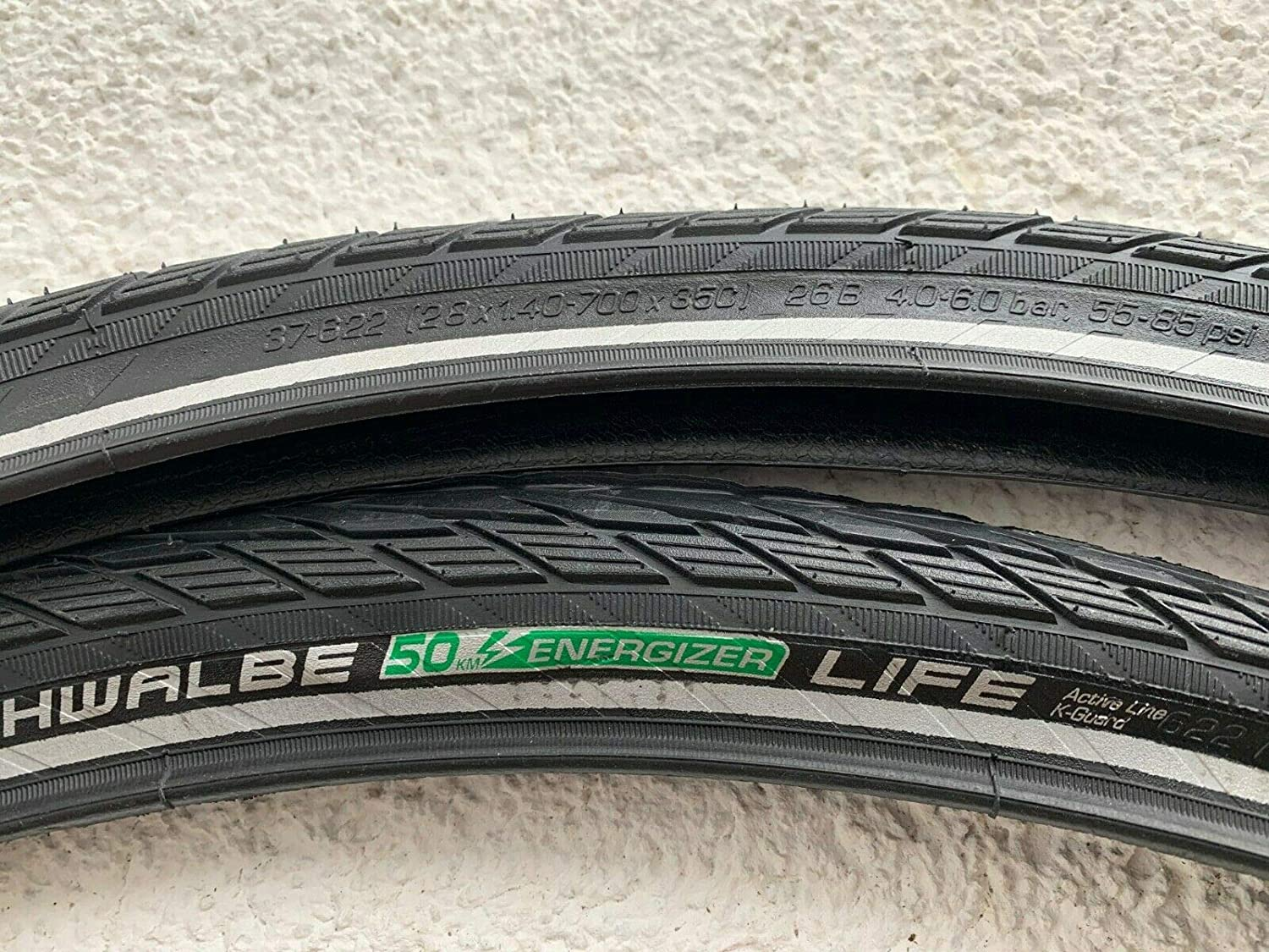 """2 Piece Bicycle Tyres 28/"""" Schwalbe Energizer 50 Life 37-622 K-Guard-NEW"""