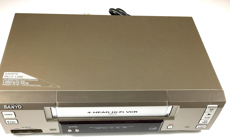 Sanyo VWM-710 VCR Video Cassette Recorder 4-Head Hi-Fi Stereo VHS Player - TVG TV Guardian Ready