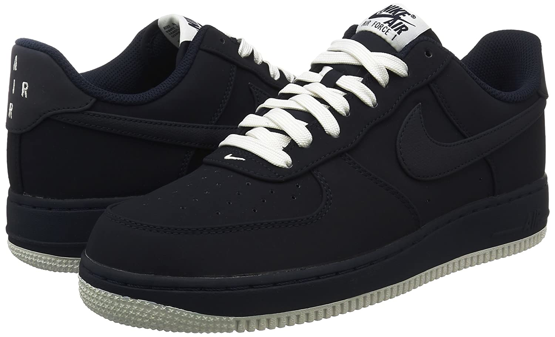 Nike Menns Air Force 1 Lav Basketball Sko Obsidian / Hvit / Svart 1aKtSirK8g