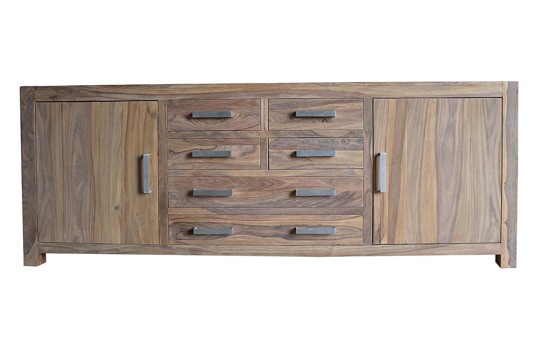Quadrato Sideboard Indo Echtes Sheeshamholz B 220 H 82 T 45
